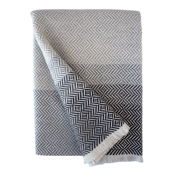 Uccle Block Throw - Pearl Grey