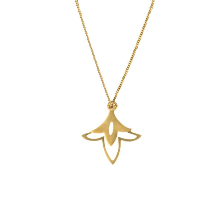 Lily Necklace – 18ct Gold Plate or SIlver