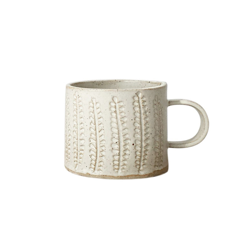 Stoneware Mug - Vanilla - Choice of design