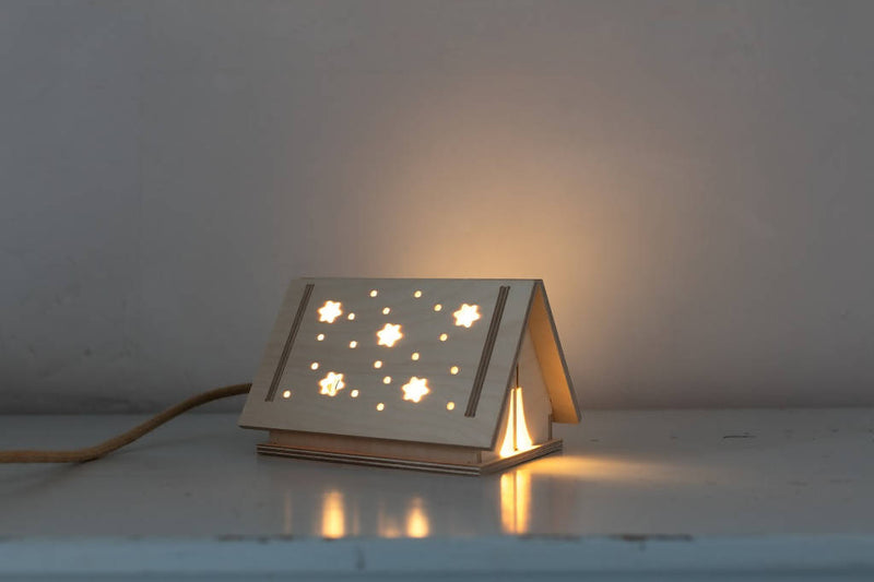 Wooden Star Tent Light
