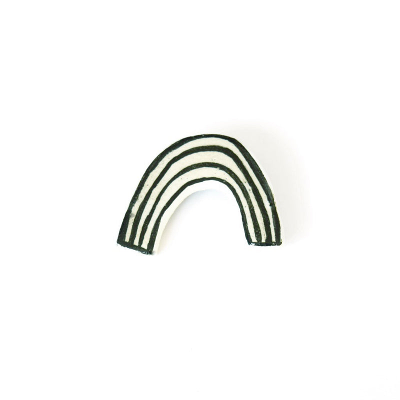 Ceramic Rainbow Brooch