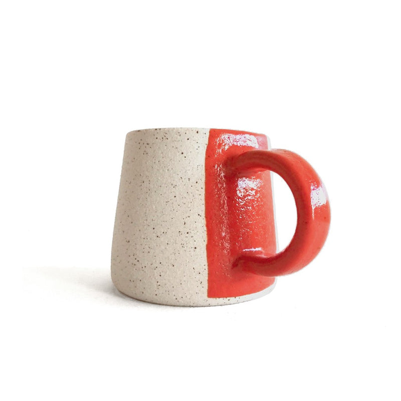 Stripe wheel-thrown mug