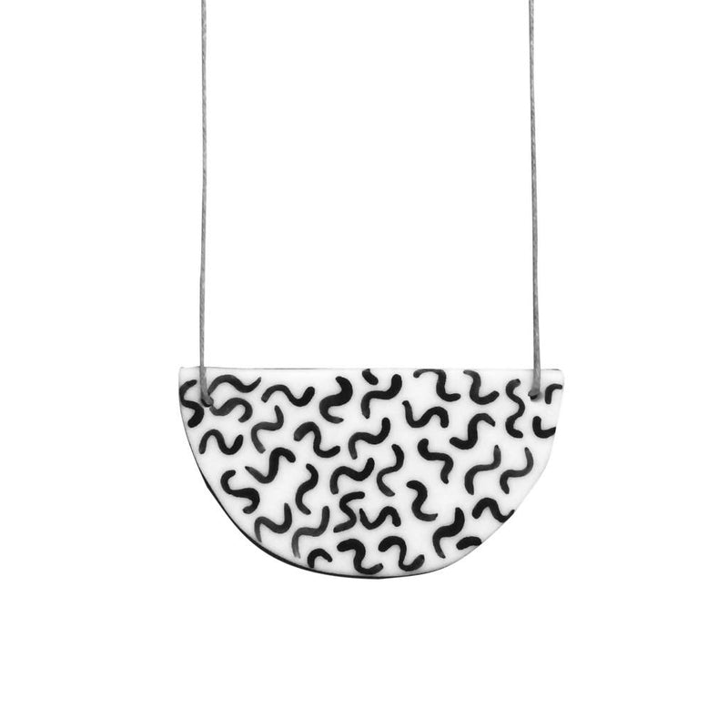 Noodle Ceramic Necklace