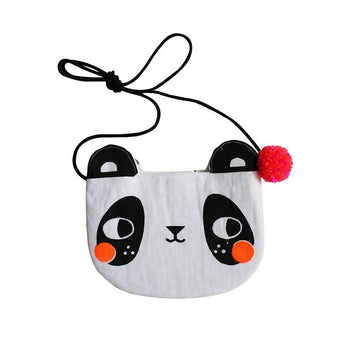 Screen printed panda bag