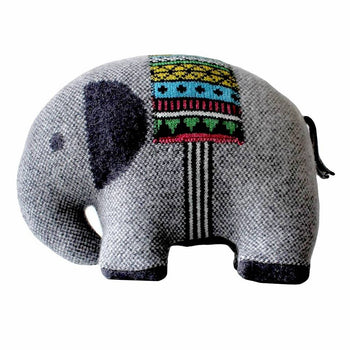 Elephant Lambswool Cushion