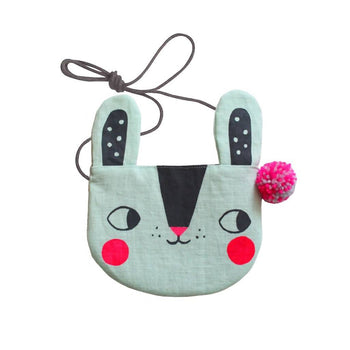 Screen printed bunny bag – choice of colours