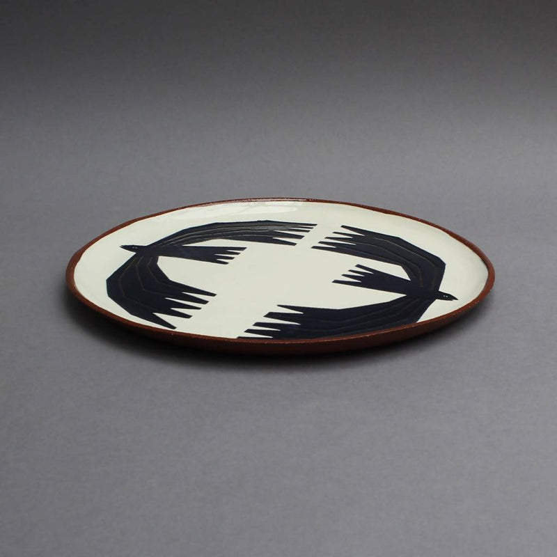 Mirrored rooks plate