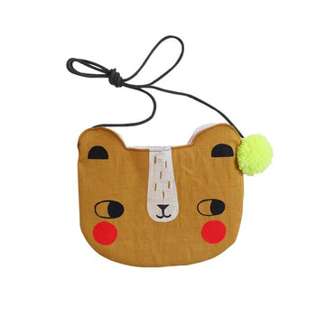 Screen printed bear bag – choice of colours