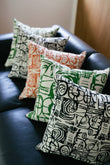 Sketch Cushion Orange