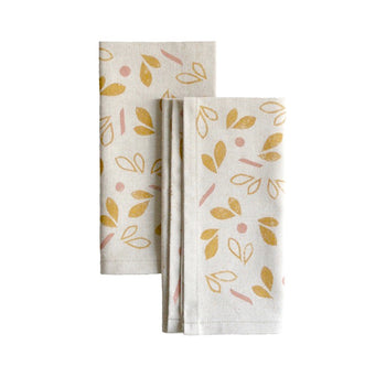 Spring Bud Pair of Napkins