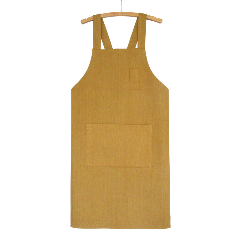 Golden Ochre Denim Crossback Work Apron No 4:3