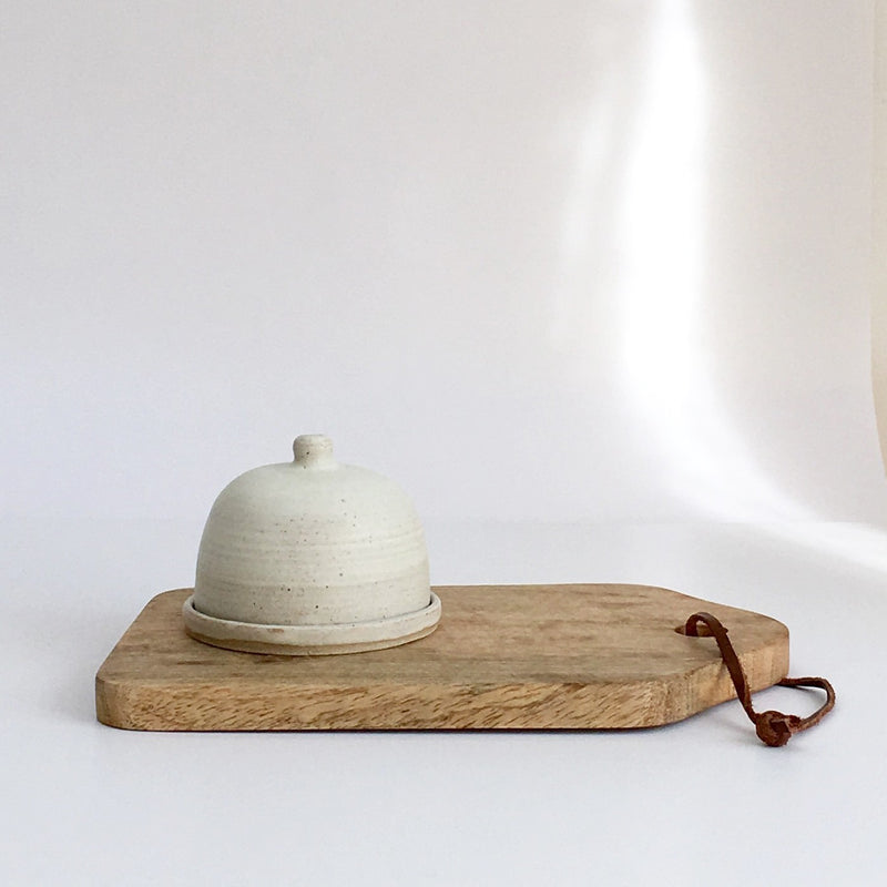 Stoneware butter dish