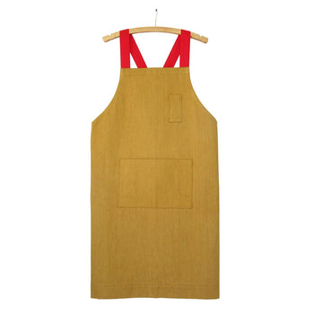 Golden Ochre Denim Adjustable Cross Back Apron. No 7