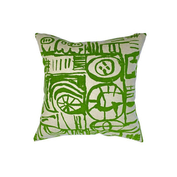 Sketch Cushion Green