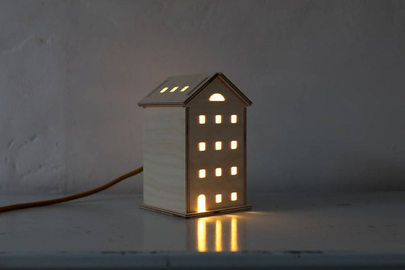 Wooden Townhouse Light