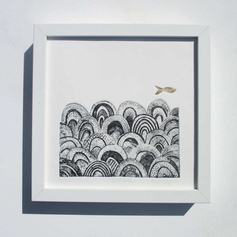 Gold Fish, Limited Edition Collagraph
