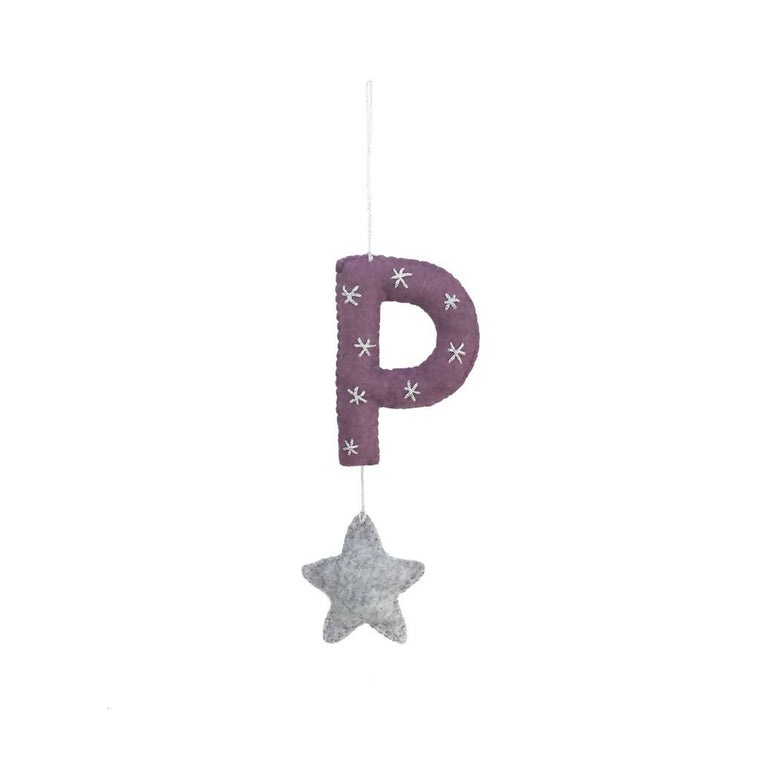 Alphabet Hanger with Star