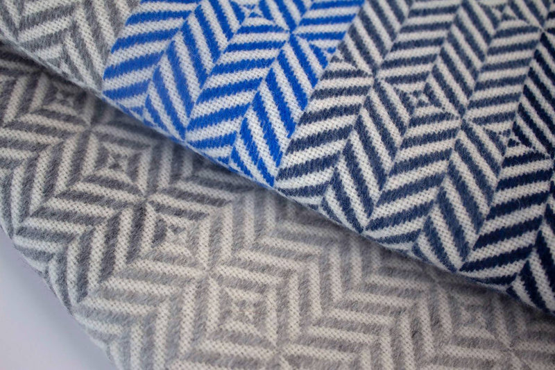 Uccle Block Throw - Indigo