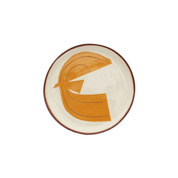 Little orange lark plate