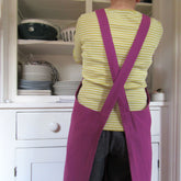Linen-Cotton Cross Back Apron – choice of colours