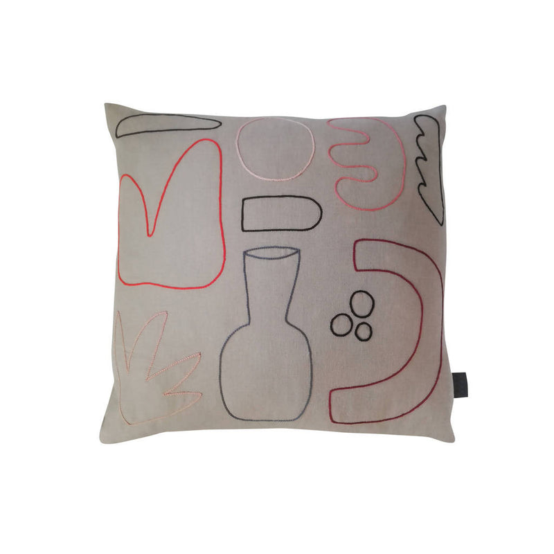 Hand-stitched 'Science' Cushion - choice of colours