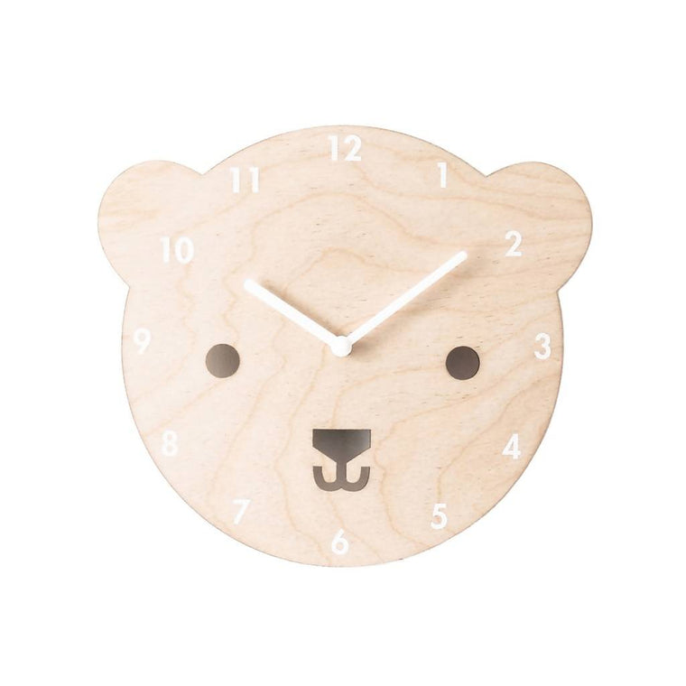 Wooden Bear Clock for Children