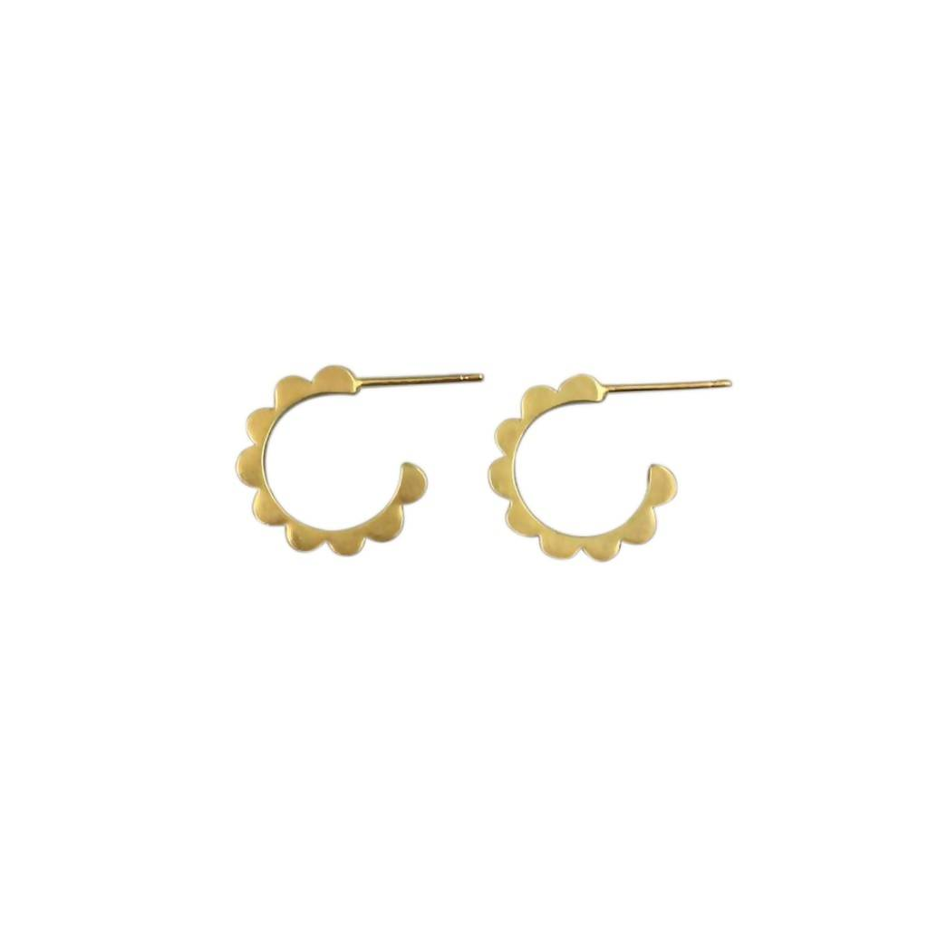 Audrey Hoops Mini – 18ct Gold Plate or SIlver