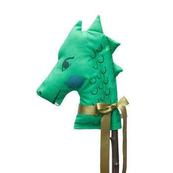 Green Dragon Hobby Horse Toy