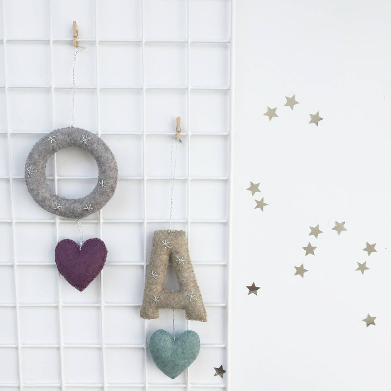 Alphabet Hanger with Heart