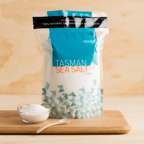 TASMAN SEA SALT FLAKES POUCH (1.5KG)