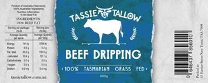 Beef Dripping | 100% Tasmanian Grass-Fed | 500mL
