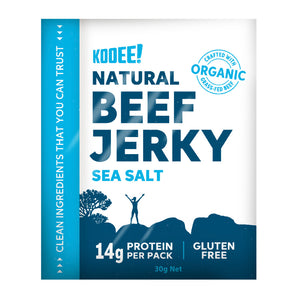 Grass Fed Beef Jerky - Sea Salt 30g