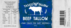 Beef Tallow | 100% Tasmanian Grass-Fed | 500mL