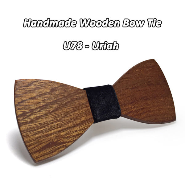 Mahoosive Wood Bow Tie Mens Wooden Bow Ties Gravatas Corbatas Business Butterfly Cravat Party Ties For Men Wood Ties