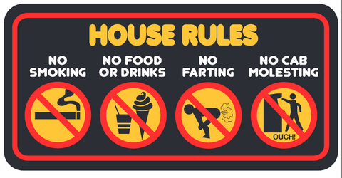 Arcade House Rules Sign