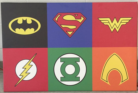 DC Super Hero Logo Canvas Print