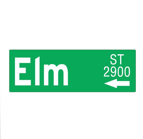 Nightmare on Elm Street - Elm St Sign