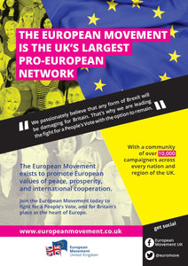 European Movement leaflet (x350)