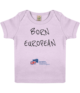 Born European Baby T-shirt in various colours (v2)