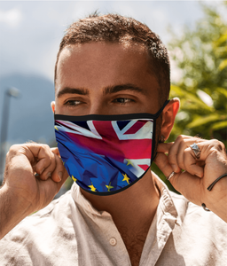 EU/UK Flags Face Mask