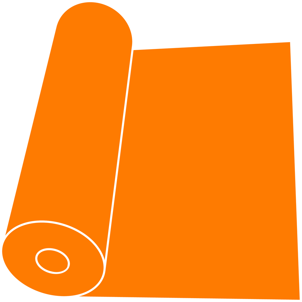 "Fluorescent Orange 15"" Roll"