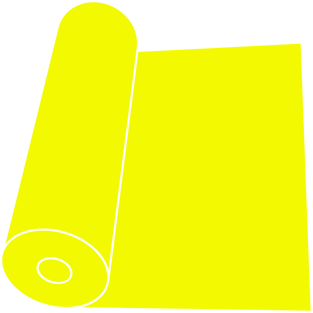"Fluorescent Yellow 15"" Roll"