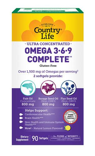 Ultra Omega 3-6-9 Complete - 90 Softgels
