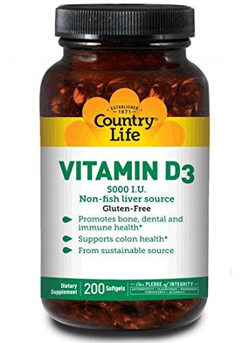 Vitamin D3 5000 IU - 200 Softgels
