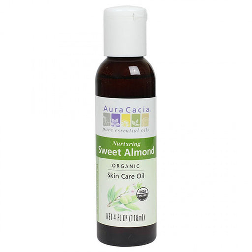 Sweet Almond Organic Skin Care Oil - 4 oz