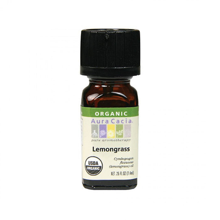 Lemongrass Organic Essential Oil - .25 oz