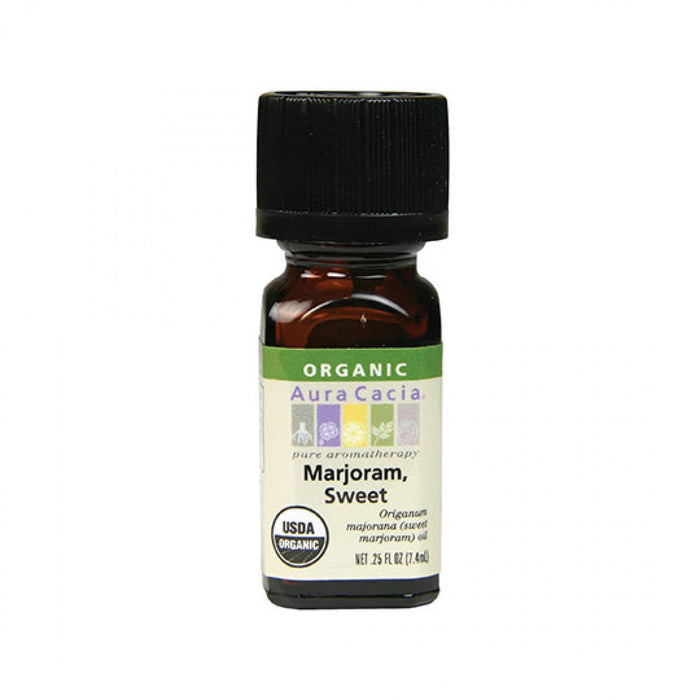 Sweet Marjoram Organic Essential Oil - .25 oz