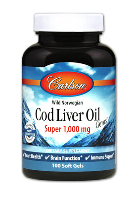Super Cod Liver Oil 1000 mg - 100 Softgels