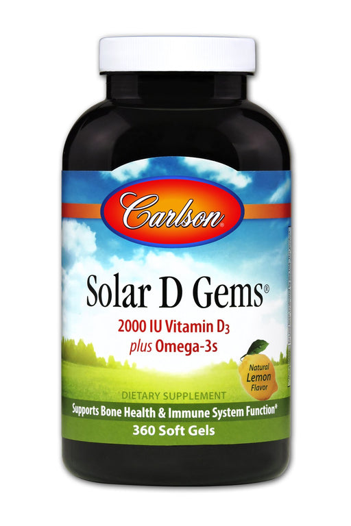 Solar D Gems 2000 IU - 360 Softgels
