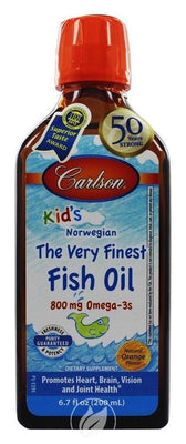 Carlson Kids Finest Fish Oil Orange - 200 ml